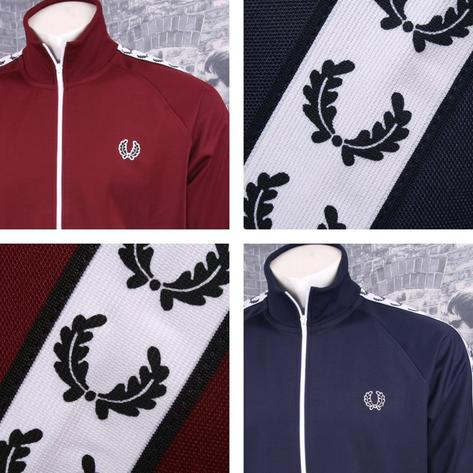 Fred Perry Mens Retro Taped Sports Track Top Thumbnail 1