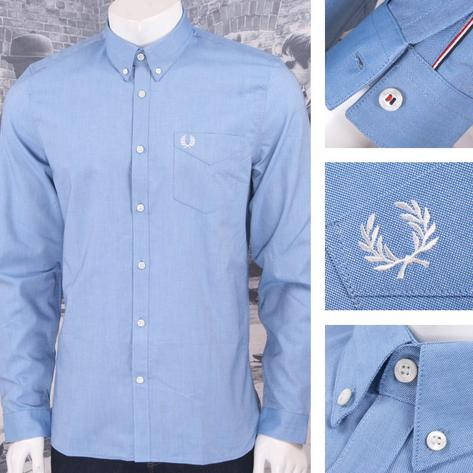Fred Perry Mens Cotton Oxford Button Down Shirt Thumbnail 2