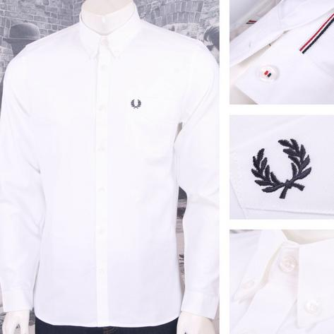 Fred Perry Mens Cotton Oxford Button Down Shirt Thumbnail 3