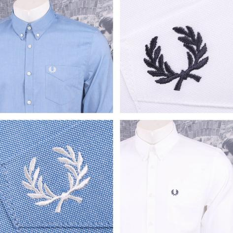 Fred Perry Mens Cotton Oxford Button Down Shirt Thumbnail 1