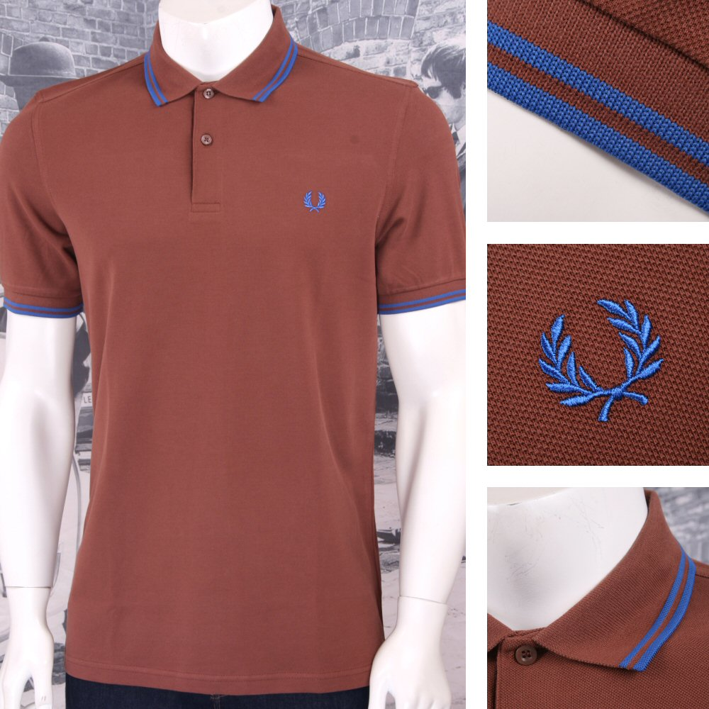 97d57d17844 ... switzerland fred perry mens classic pique m3600 polo shirt tan 32239  11acc