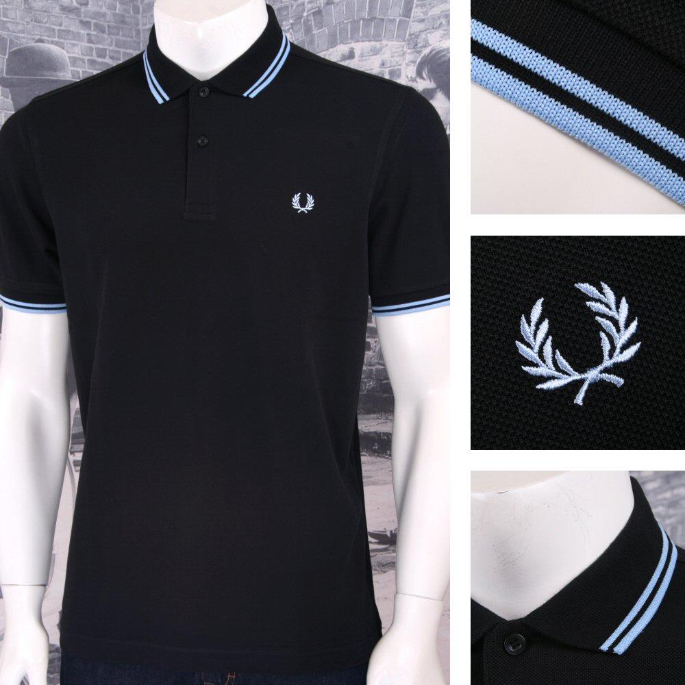 Fred Perry Mens Classic Pique M3600 Polo Shirt Black