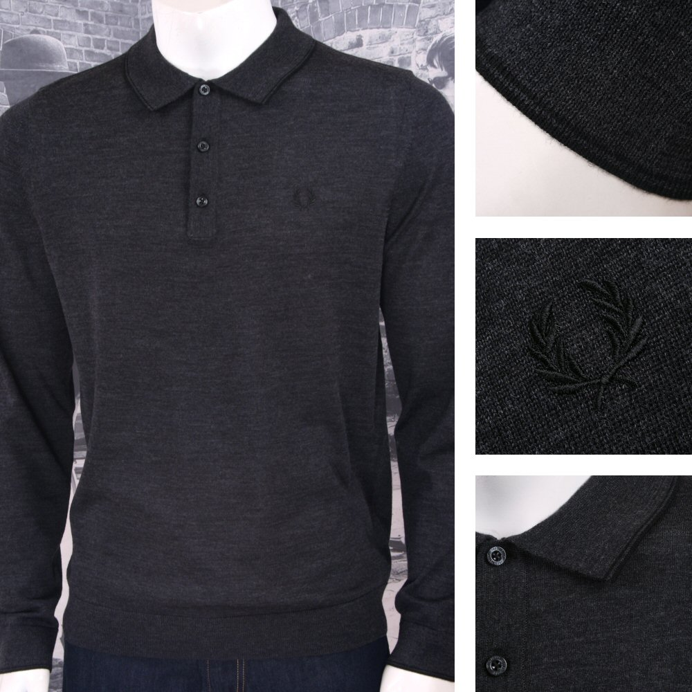612fc5752 Fred Perry Mens Merino Tipped Knit Polo Shirt Thumbnail 1 ...