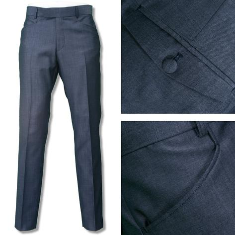 Adaptor Clothing Mod Two Tone Retro Tonic Slim Mohair Trousers Airforce Blue