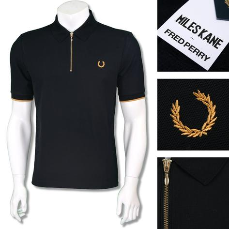 Fred Perry Ltd Edition Miles Kane Zip Collar Polo Shirt Thumbnail 3