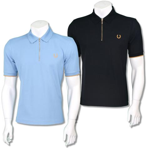 Fred Perry Ltd Edition Miles Kane Zip Collar Polo Shirt Thumbnail 1