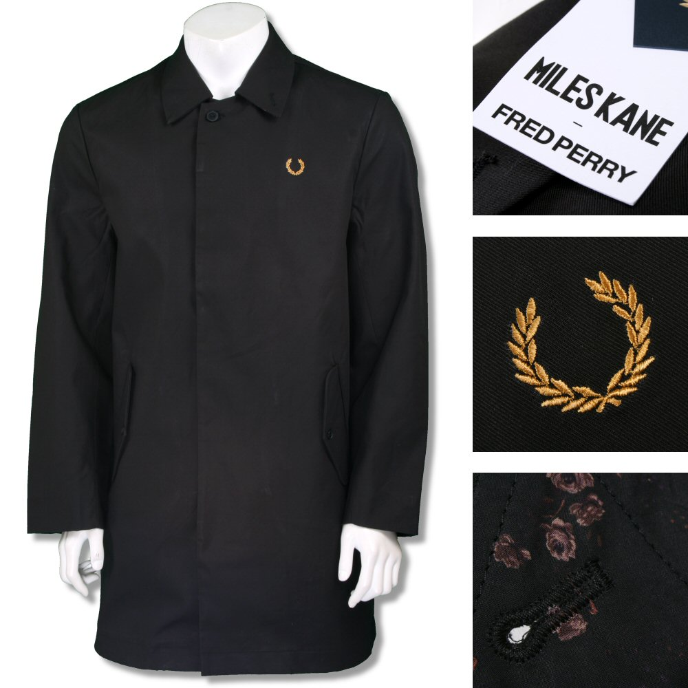 db4b847ac Fred Perry Ltd Edition Miles Kane Liberty Trim Raincoat Black Thumbnail 1  ...