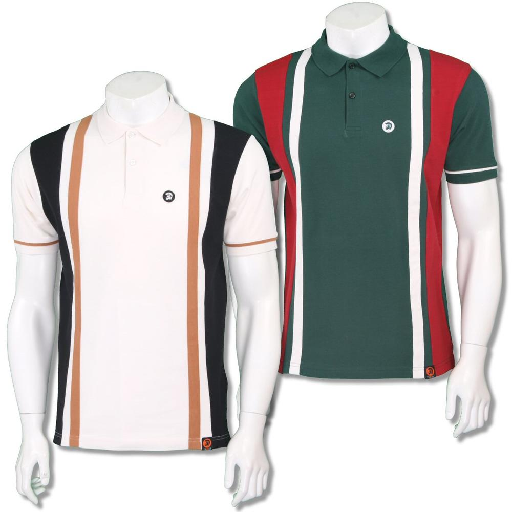 Trojan Records Mens Retro Racing Stripe Polo Shirt