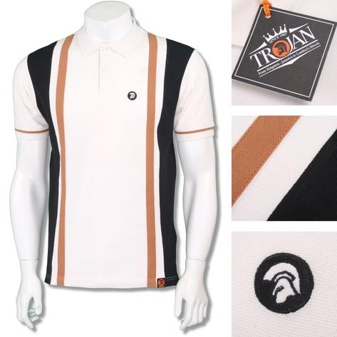 Trojan Records Mens Retro Racing Stripe Polo Shirt Thumbnail 2