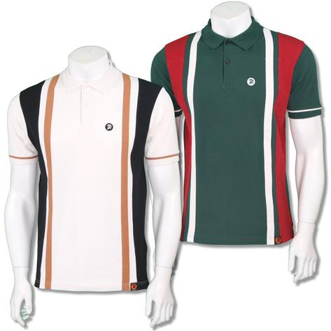 Trojan Records Mens Retro Racing Stripe Polo Shirt Thumbnail 1