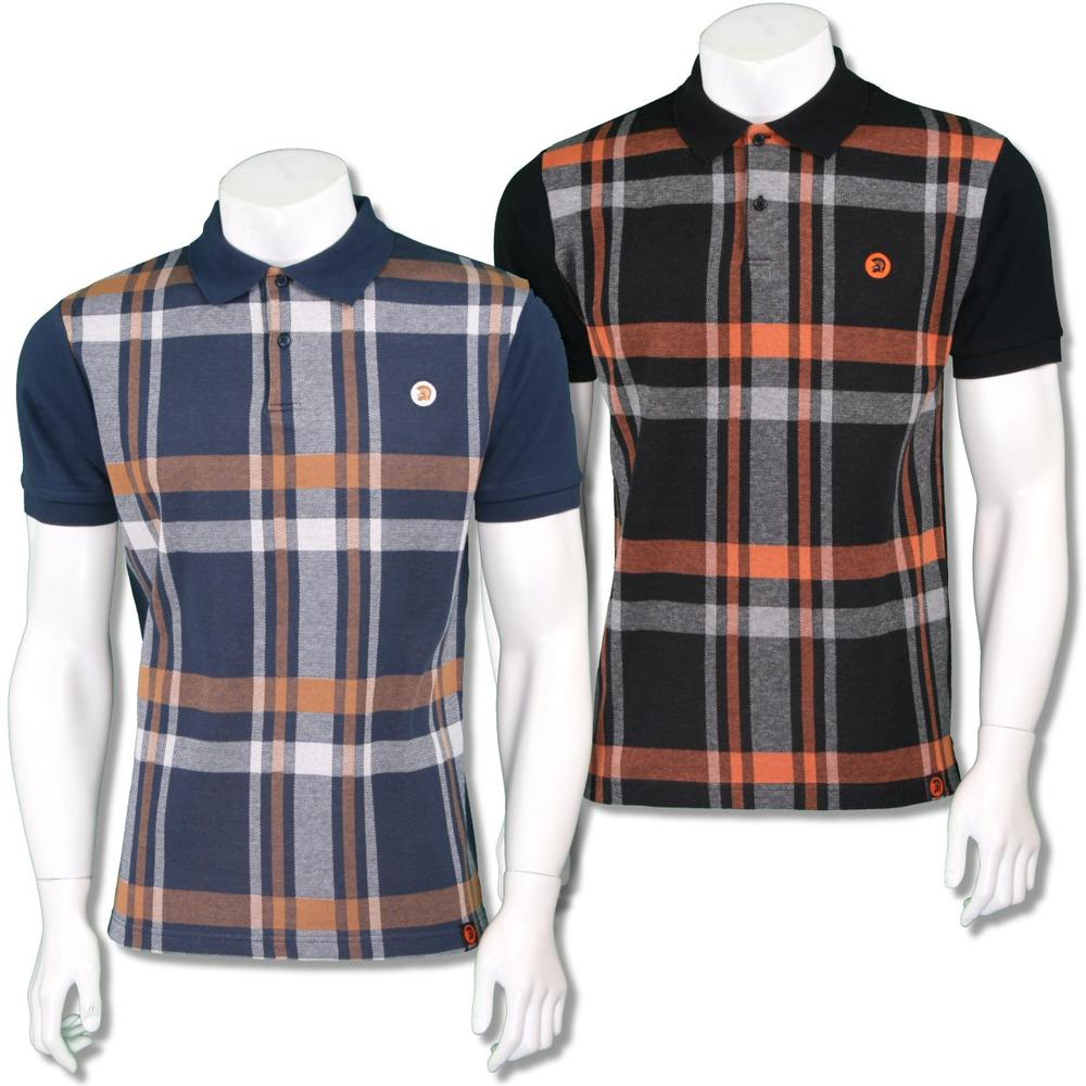 Trojan Records Mens Retro Bold Check Polo Shirt