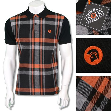 Trojan Records Mens Retro Bold Check Polo Shirt Thumbnail 3
