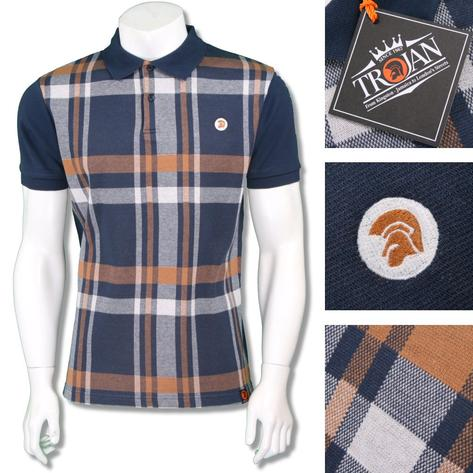 Trojan Records Mens Retro Bold Check Polo Shirt Thumbnail 2