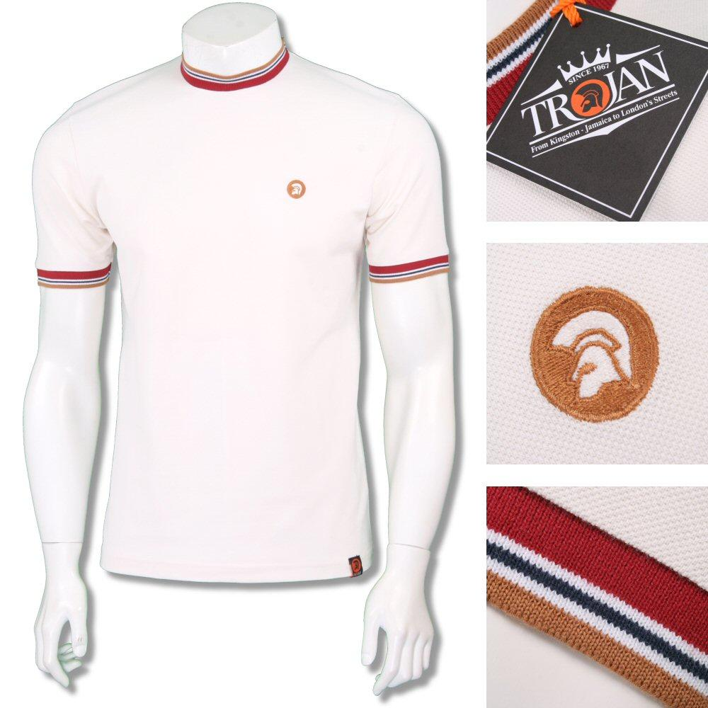 Trojan Records Mens Retro Multi Tipped Ringer T-Shirt