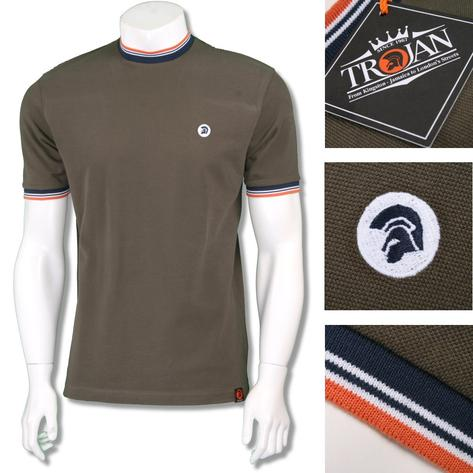 Trojan Records Mens Retro Multi Tipped Ringer T-Shirt Thumbnail 4