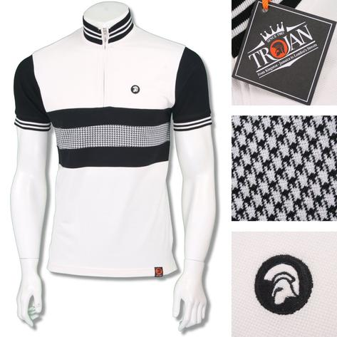 Trojan Records Mens Retro Dogtooth Stripe Cycling Top Thumbnail 2