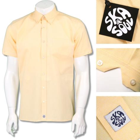 Ska & Soul Mens Oxford Button Down Short Sleeve Shirt Thumbnail 3