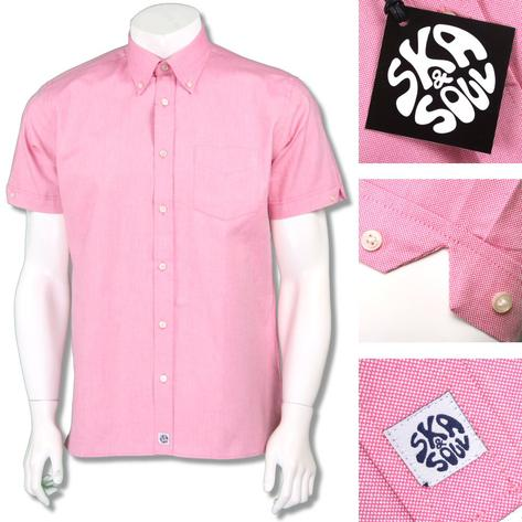Ska & Soul Mens Oxford Button Down Short Sleeve Shirt Thumbnail 4