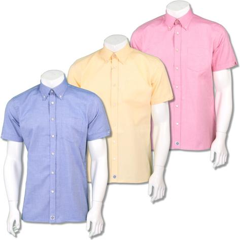 Ska & Soul Mens Oxford Button Down Short Sleeve Shirt Thumbnail 1