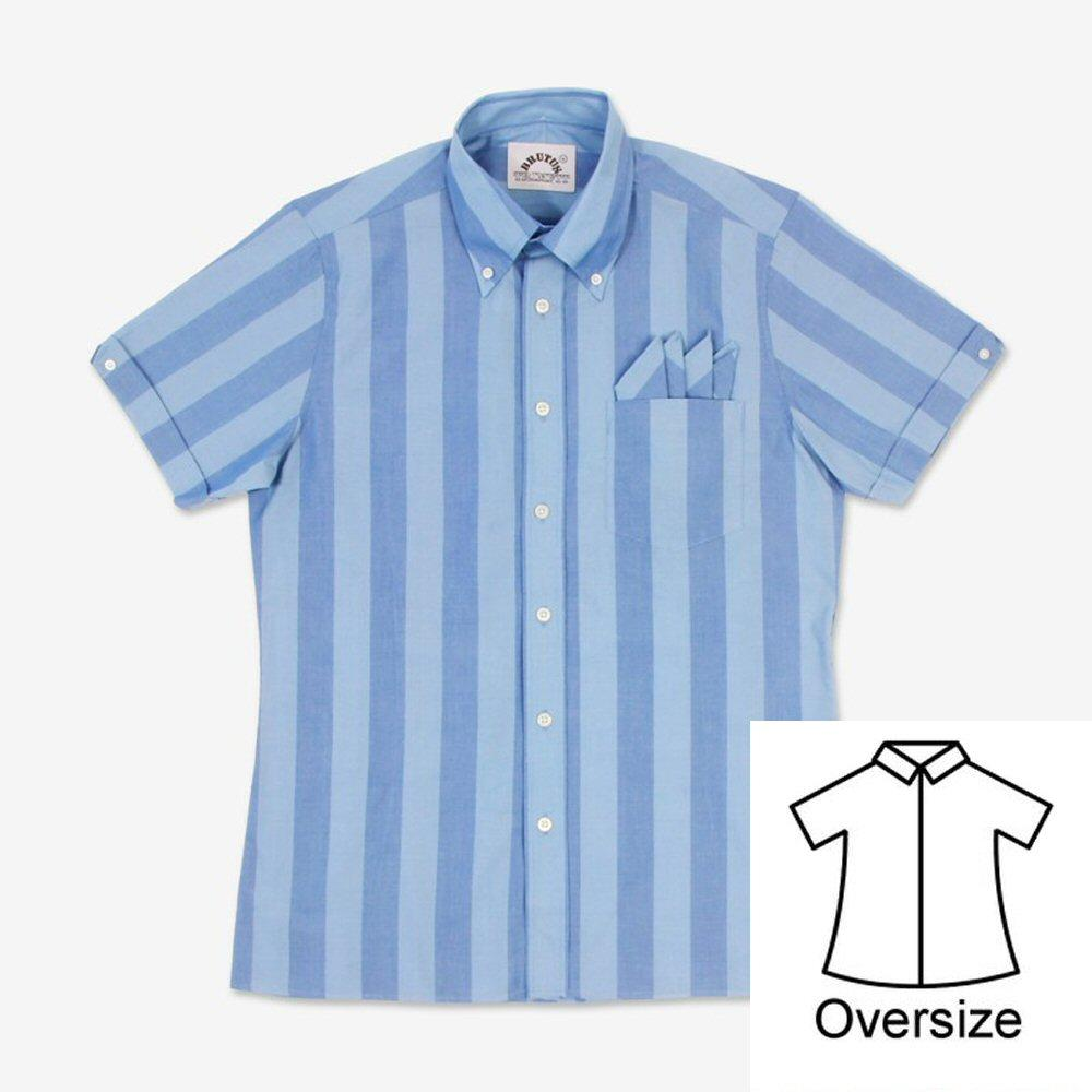 Brutus GREATFIT Mod Skin Retro Classic Candy Stripe S/S Shirt Blue