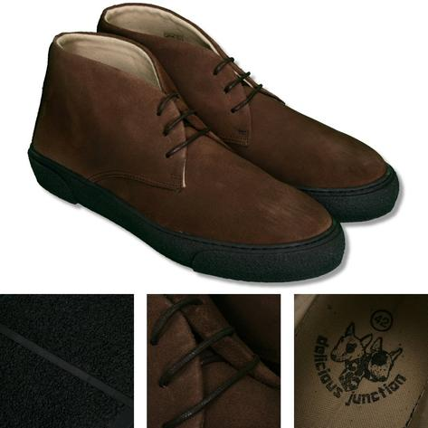 Delicious Junction Suede Playboy Chukka Boot Choc Thumbnail 1