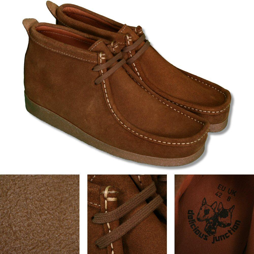 Delicious Junction 2 Hole Wallabee Style Suede Boot Tan