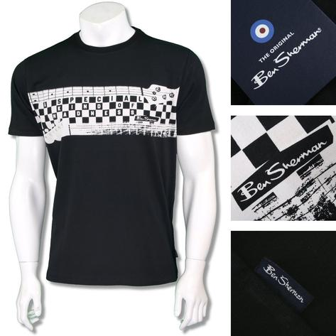 Ben Sherman Ska Retro Crew Neck Madness Specials T-Shirt Thumbnail 3