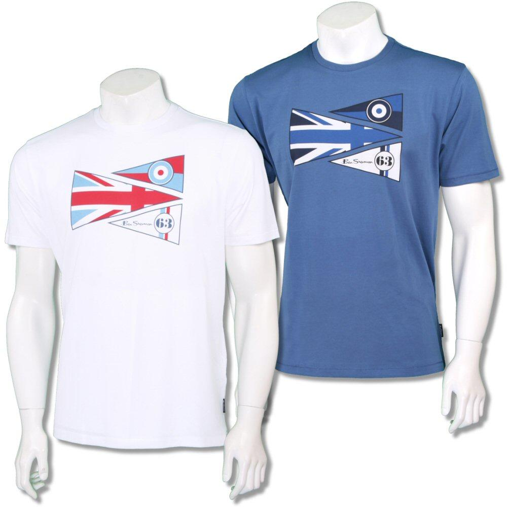 Ben Sherman Mod Retro Crew Neck Scooter Pennant T-Shirt