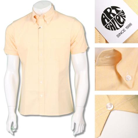 Art Gallery Mens Button Down Plain Oxford Cotton Shirt Thumbnail 4