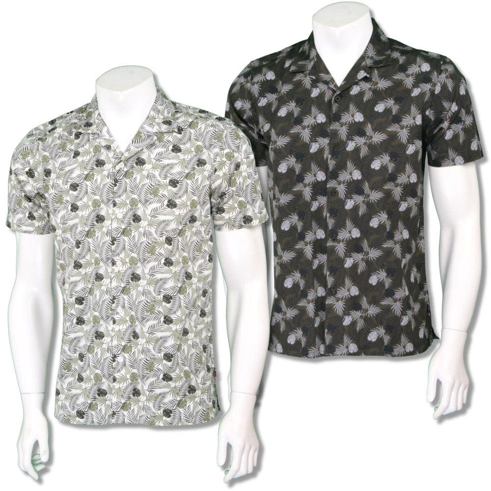 Merc London Mens Revere 'Cuban' Collar Floral Shirt