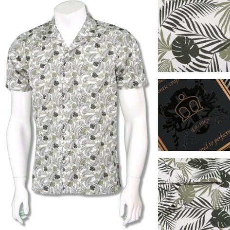 Merc London Mens Revere 'Cuban' Collar Floral Shirt Thumbnail 2