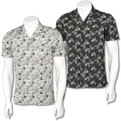 Merc London Mens Revere 'Cuban' Collar Floral Shirt Thumbnail 1