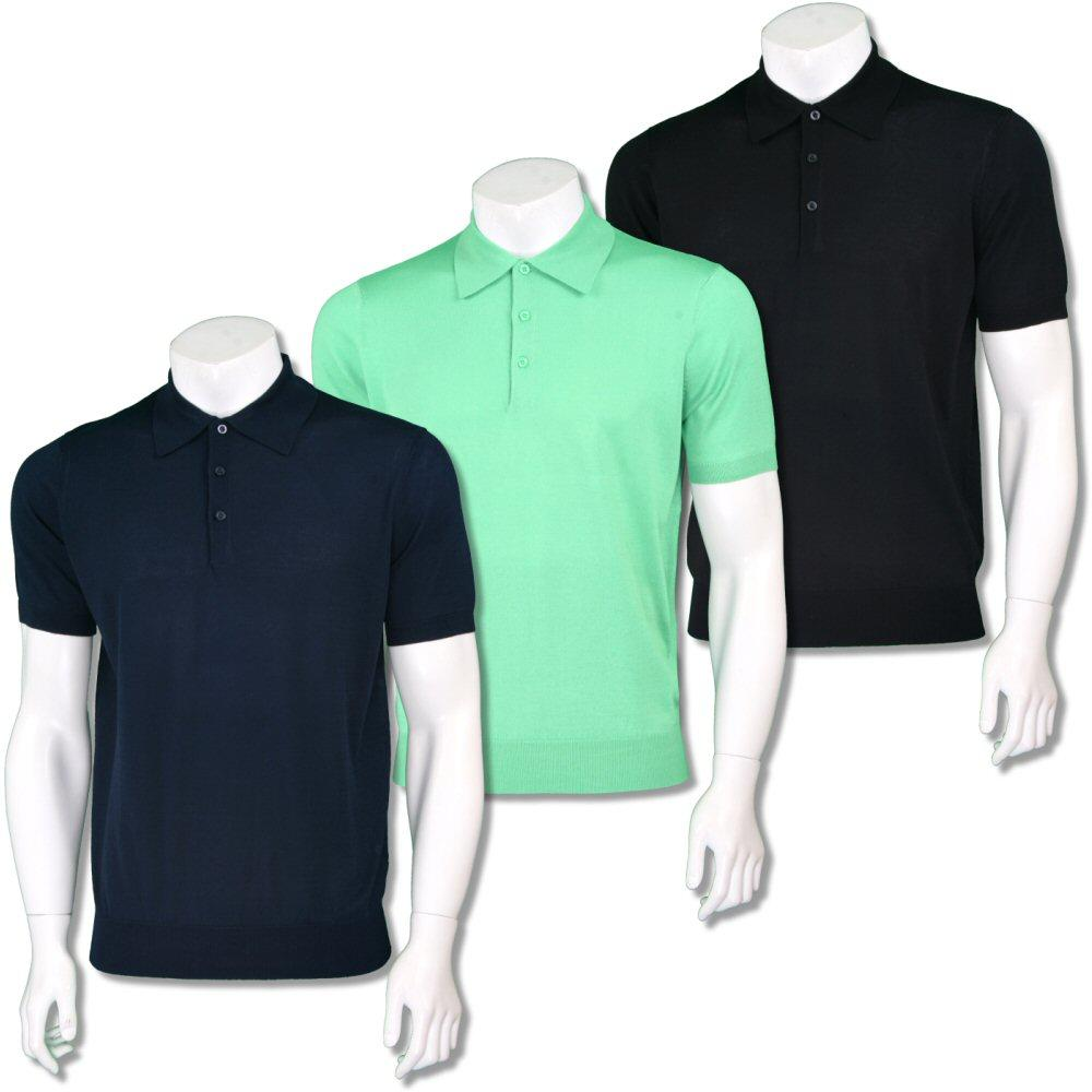 Art Gallery Mens Short Sleeve Plain Knit Polo Shirt