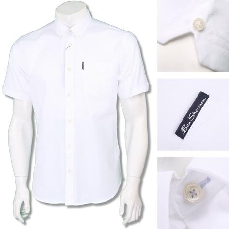 Ben Sherman Mens Mod Classic Cotton Oxford Shirt White