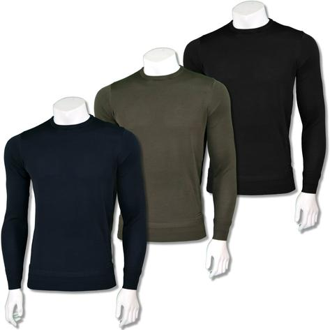 Sseinse Mens Italian Knit Crew Neck Jumper