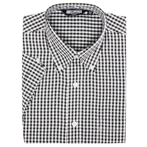 Relco Mens Gingham Check Short Sleeve Shirt Thumbnail 3