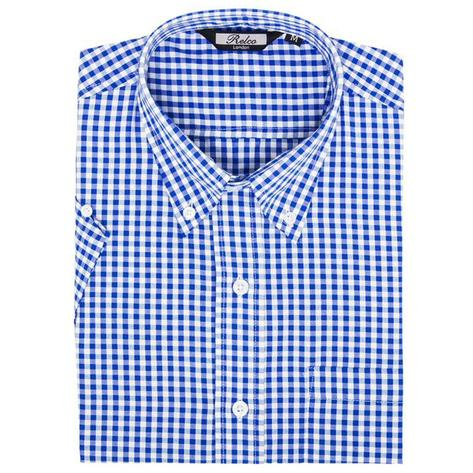Relco Mens Gingham Check Short Sleeve Shirt Thumbnail 2