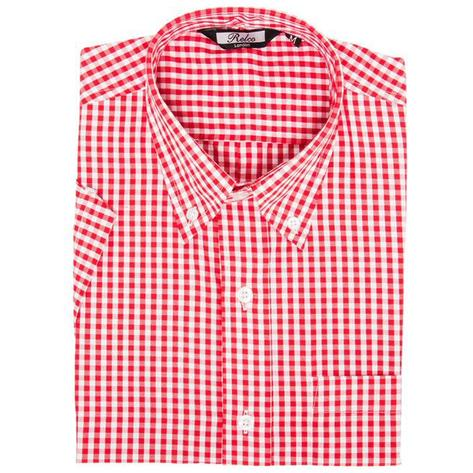 Relco Mens Gingham Check Short Sleeve Shirt Thumbnail 4