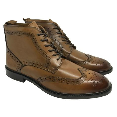 Delicious Junction Brogue Leather Boot Garrison Chestnut Thumbnail 1
