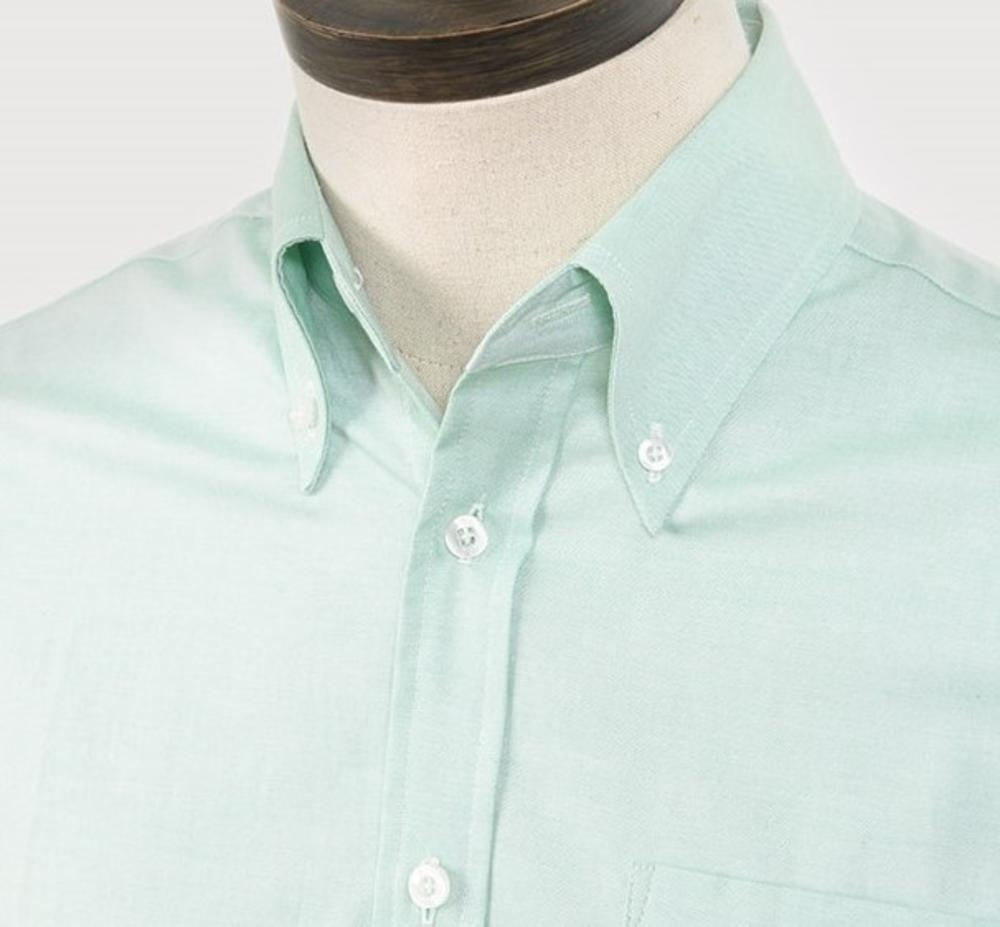 Art Gallery Mens Long Sleeve Cotton Oxford Shirt Mint