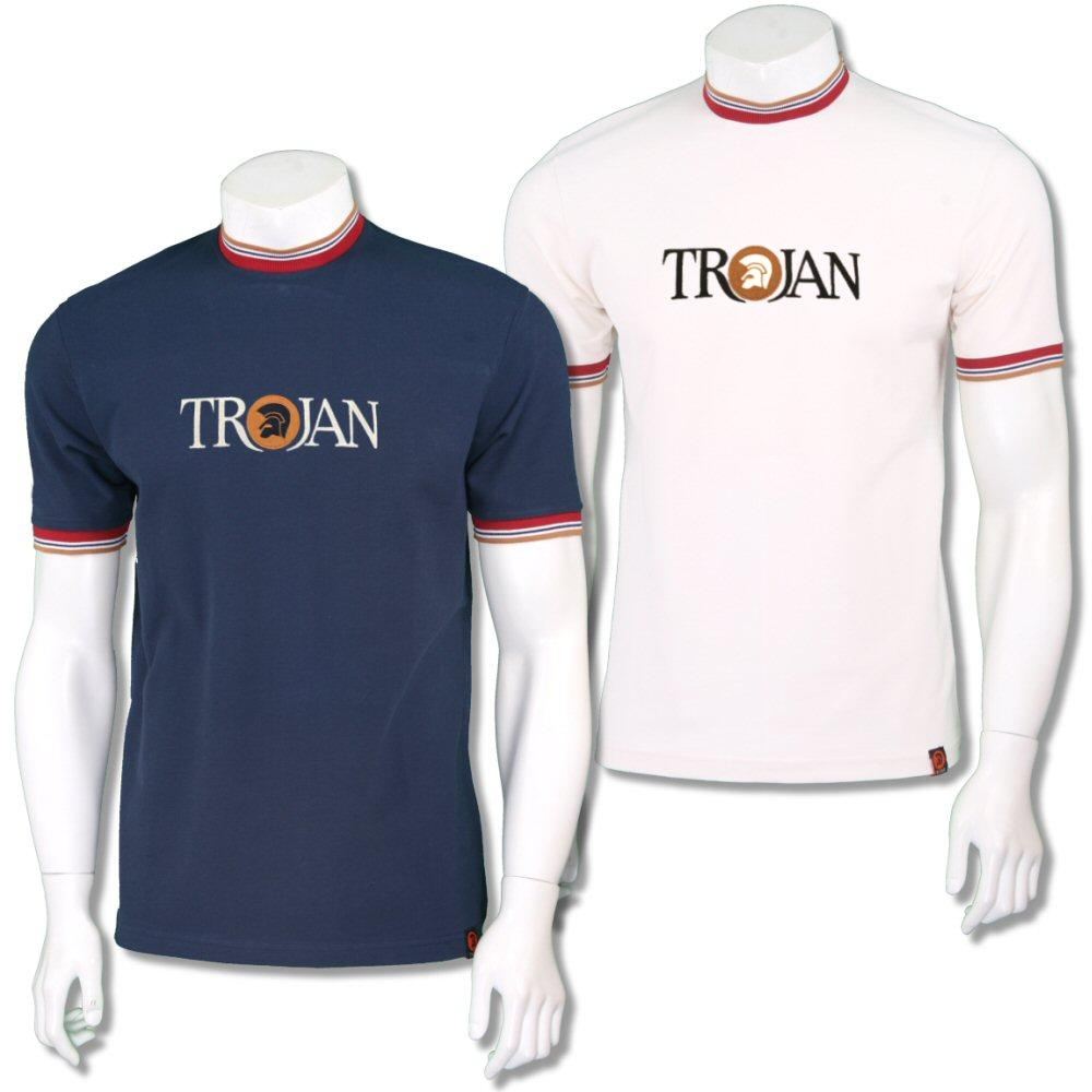 Trojan Records Pique Logo Multi Tipped Ringer T-Shirt