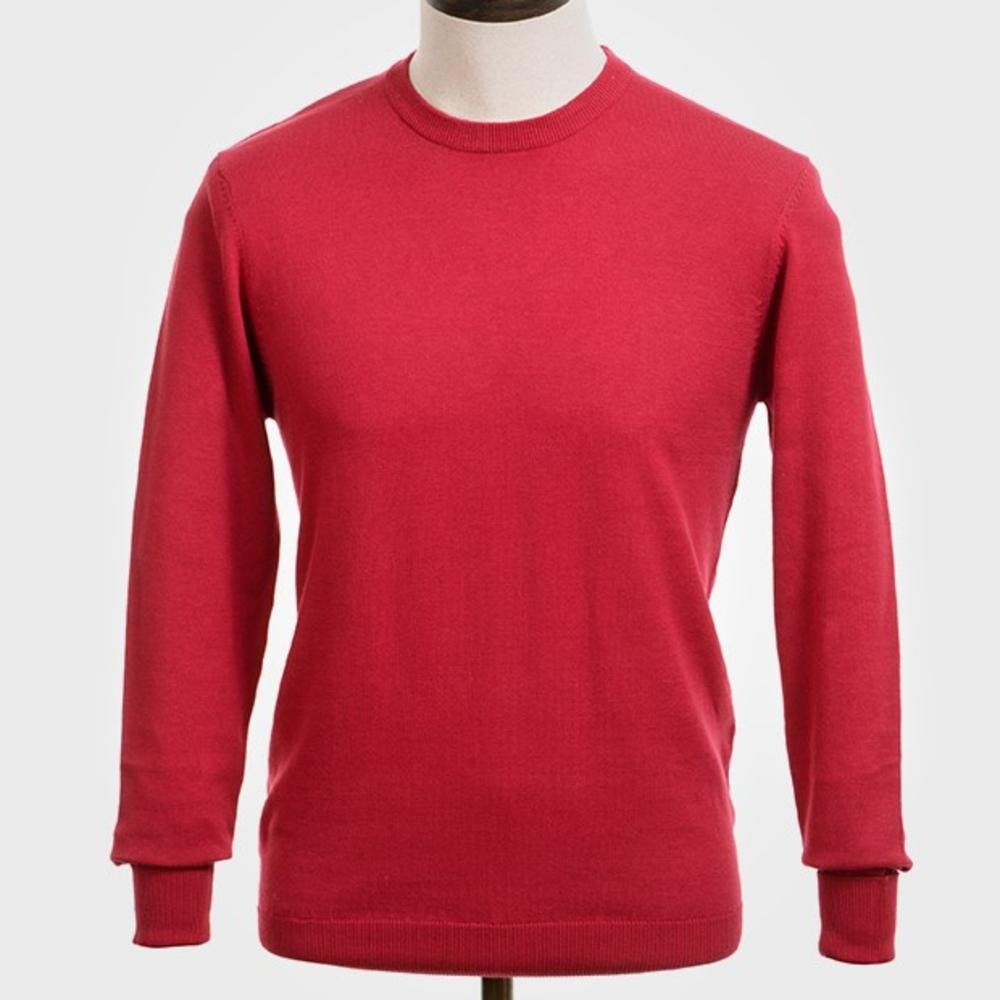Art Gallery Mens Merino Wool Crew Neck Jumper Red