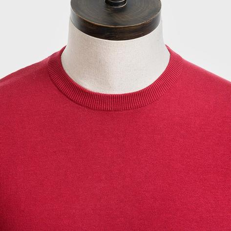 Art Gallery Mens Merino Wool Crew Neck Jumper Red Thumbnail 2