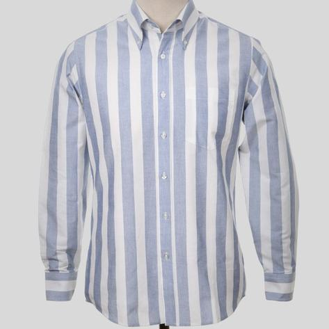 Art Gallery Mens Cotton Candy Stripe Shirt Blue