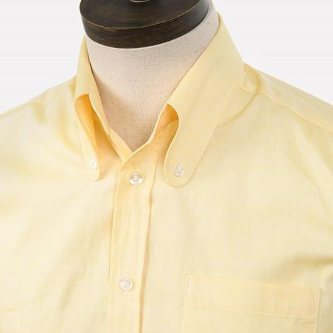 Art Gallery Cotton Beagle Collar Plain Shirt Lemon
