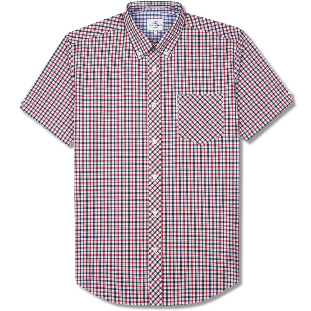Ben Sherman Check Short Sleeve Shirt Red 0056235