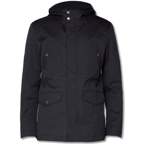 Ben Sherman 4 Pocket Coated Cotton Jacket Black Thumbnail 1