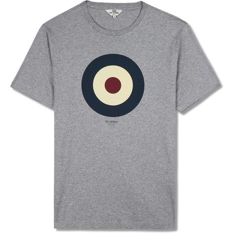 Ben Sherman Crew Neck Target Print T-Shirt Grey