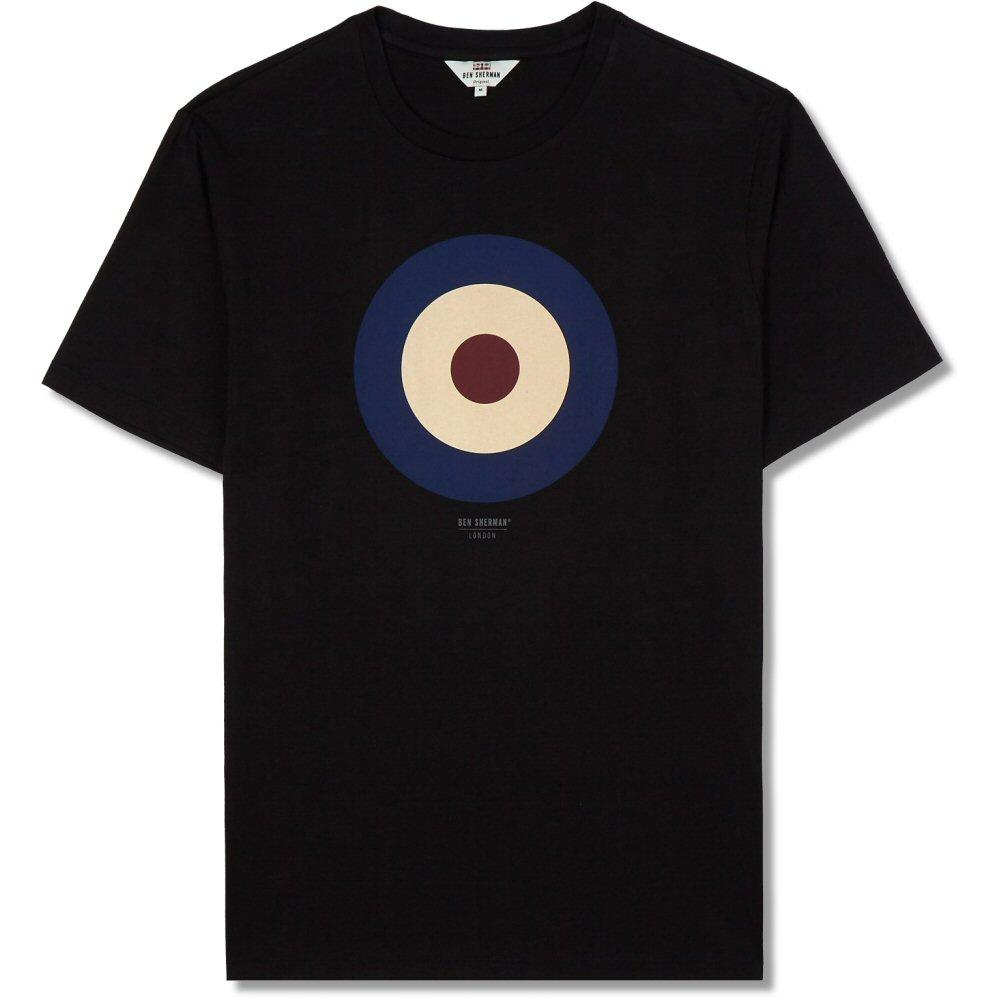 Ben Sherman Crew Neck Target Print T-Shirt Black