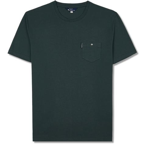 Ben Sherman Crew Neck Target Print T-Shirt Green